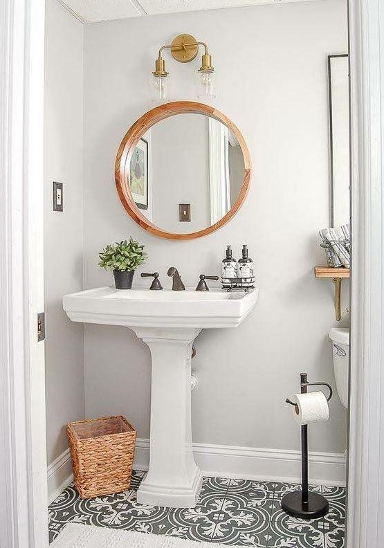 Cute bathroom ideas! #small #bathroom #decorating #ideas Powder