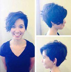 Asymmetrical Pixie Haircut                              …
