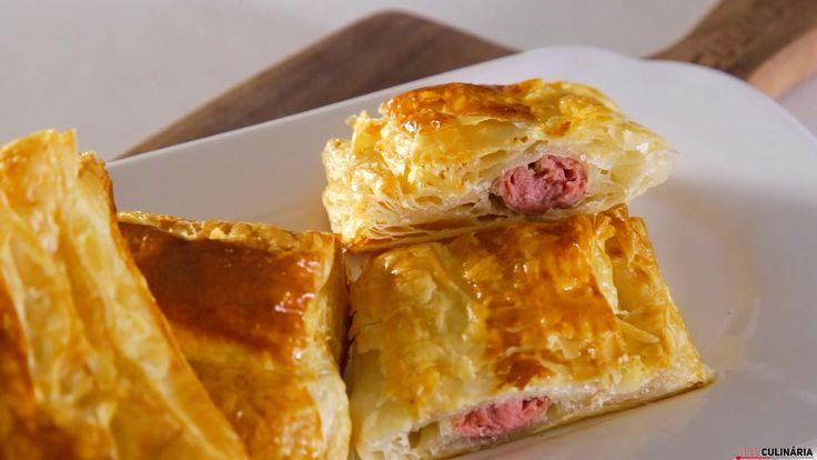 Receita de Folhados de salsicha. Descubra como cozinhar Folhados de salsicha de maneira prática e deliciosa!