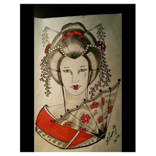 My draw  #Geisha. Ketty Fly - Liviana Ink Tattoo