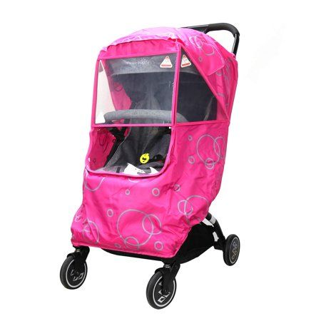 Easy to Install and Remove Stroller Rain Cover and Baby Mosquito Net Waterproof 2-Piece Set Travel-Friendly Windproof Protection Outdoor Use