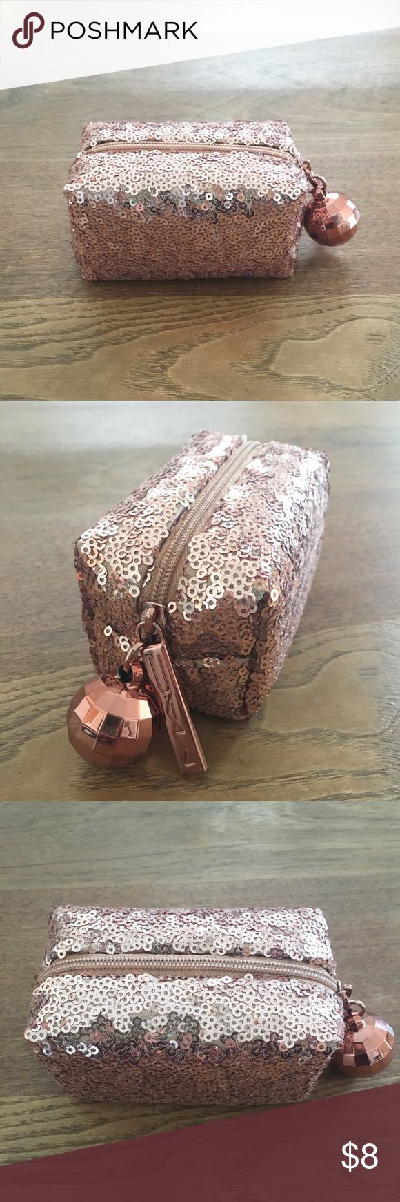 Sparkly Rose Gold MAC Makeup Bag BRAND NEW adorable sequined rose gold mini makeup bag by MAC MAC Cosmetics Bags Cosmetic Bags & Cases