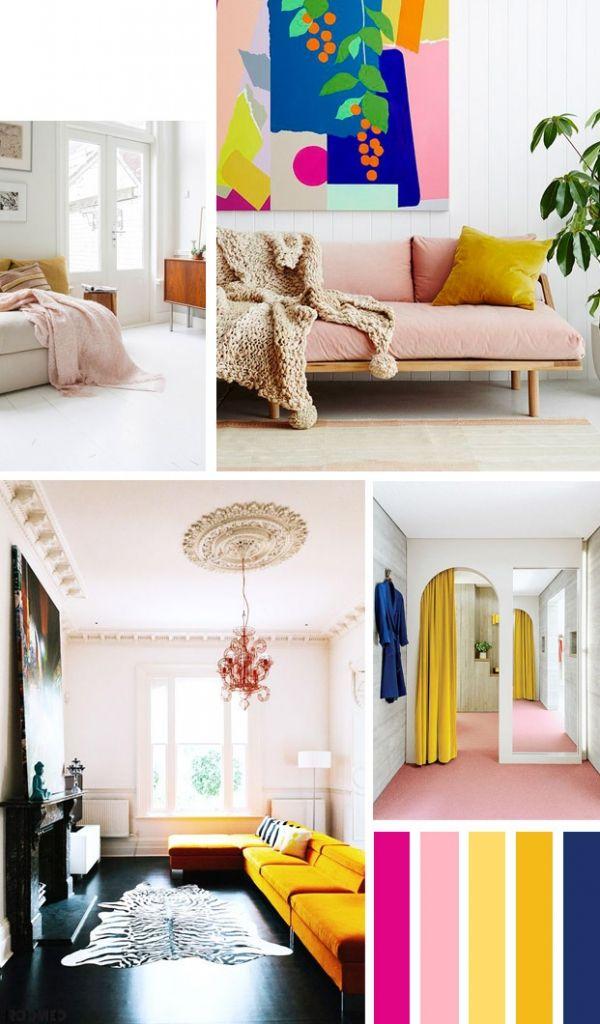 Colorboost: een zoet interieur met geel en roze - Roomed