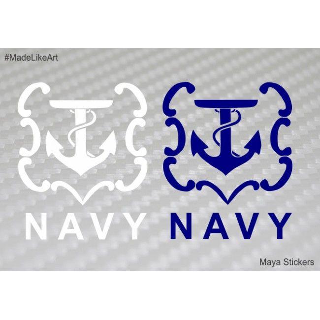 Indian Navy Logo Emblem Custom Sticker Decal For Cars Bikes - Custom stickers for bikes