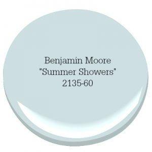 See More Benjamin Moore Summer Shower Coastal Farmhouse Paint Color