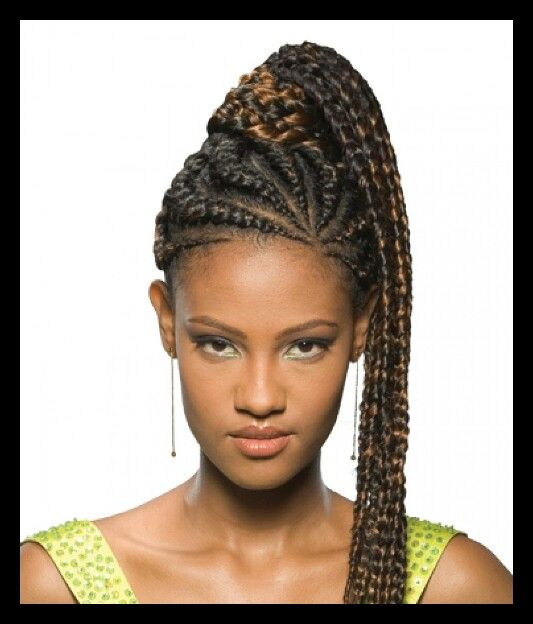 Cornrows Into Ponytail Must Try Pinterest Braid Hair