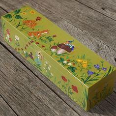 Scatola / contenitore con elfo per tesori dei bambini, scatola di legno,  portagiocattoli, portagioie, unica
