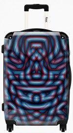 Camo Suitcase  #Fimbis #ikase #abstract #pattern #symmetry #suitcase #luggage #blue #maroon #red #stylish #fashionblogger #fashion #travel #french #pattern #cool #purple #holidays #camouflage #navy #customisable #Fashionblog