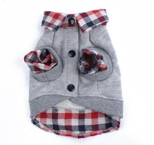 Grid Sweater Puppy Warm Coat