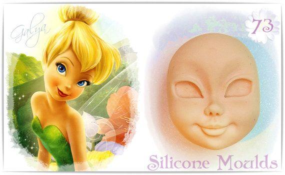 FACE OF GIRL 73...Silicone mold von MouldsGalia auf Etsy