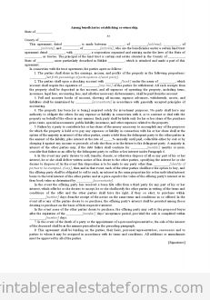 property co-ownership agreement pdf