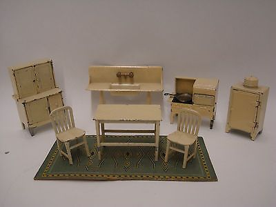 High Quality Antique Tootsie Toy Metal Furniture 1920u0027s Lot Kitchen Dollhouse Furniture  | EBay Sold For $60.00