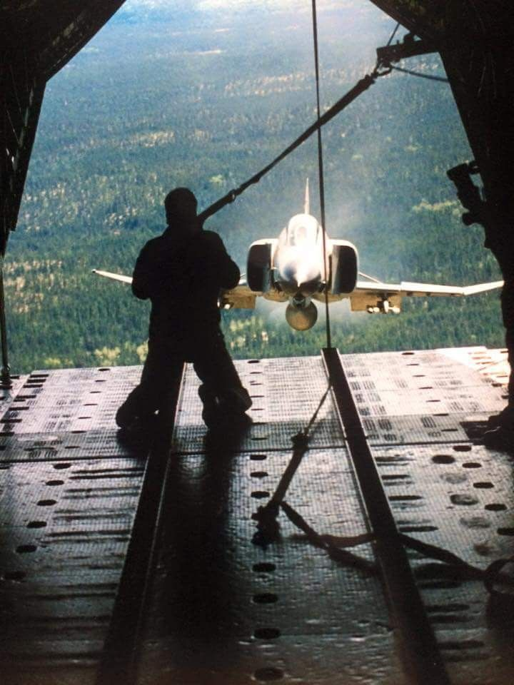 F-4 out the back of a C-130...