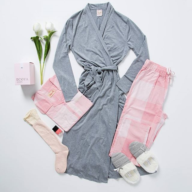 We're dreaming of PJ's, already! Featuring our #Papinelle PJ Set & #Deshabille Robe, we can't wait to get home to a hot chocolate and have some 'me time'. #birdsnestgirl #pjs #relaxtime #birdsnestonline
