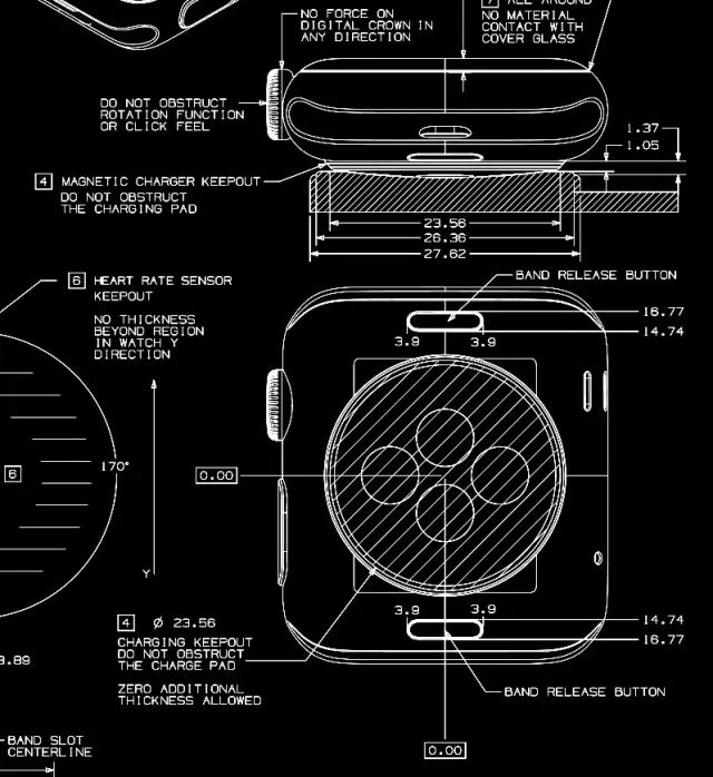Apple Watch疯了,放出CAD工程图,美到窒息!