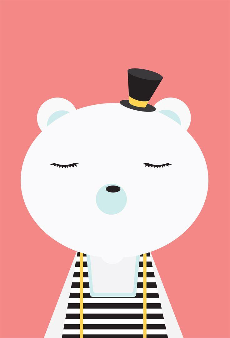 Children's Spaces | Patterns for Babies | Art Print | Illustration | Poster | Decoração Infantil | Padronagem para Bebês | Ilustração para Impressão polar bear - tracy wagner illustration