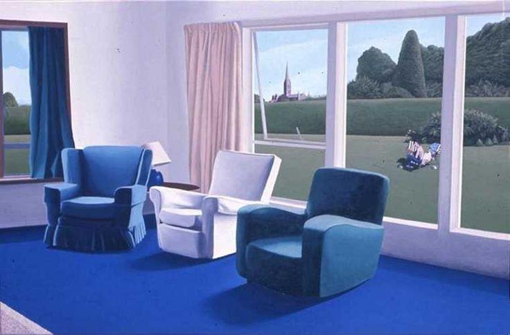 """David Inshaw (British, b. 1943) - """"The Room"""", 1971"""