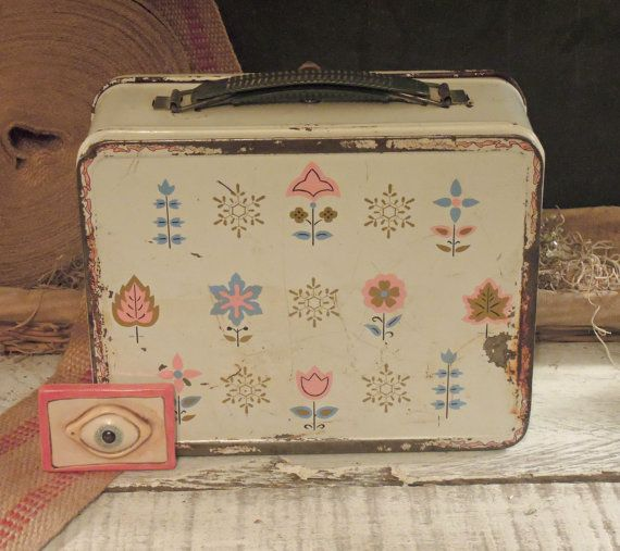 Vintage Children's Lunch Box / Pail with by jmhallcuriosities