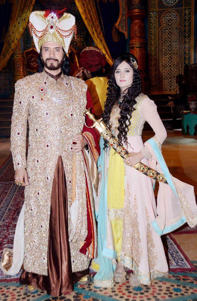 Sooraj Thapar and Pankuri Awasthy on location shoot of TV serial 'Razia Sultan'. #Bollywood #Fashion #Style #Beauty