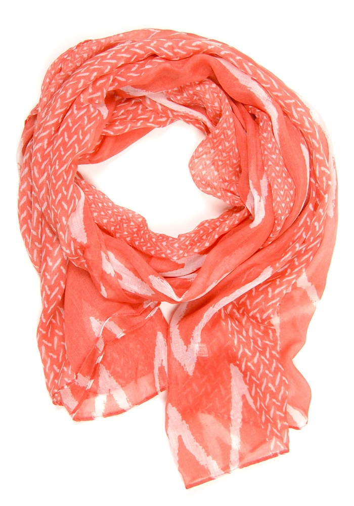 Coral Zig Zag Scarf: Fashion, Valleys Scarf, Coral Scarf, Closet, Scarfs, Accessories, Should, Wear, Coral Color