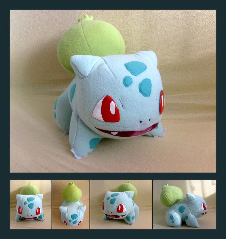 Bulbasaur plush by Lighiting-Dragon.deviantart.com on @deviantART