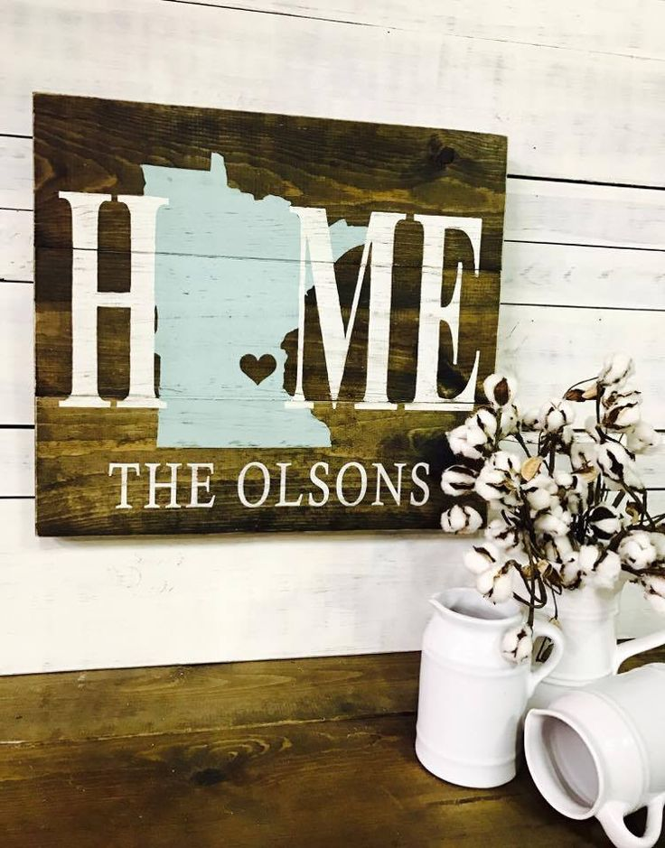 "- Measures approx. 24""w x 22""h - Finished in dark stain, your choice of state color, cream lettering & lightly distressed - Handmade in Eau Claire, WI +Lead Time :: Approx { 17 - 21 business days } +S"