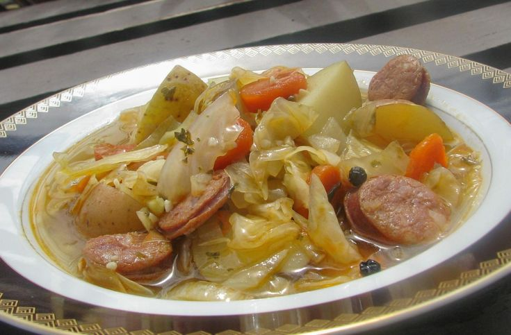 Portuguese Sausage and Cabbage Soup