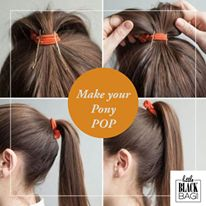 Make your pony POP with hidden bobbypins. So easy! #lbbcoza