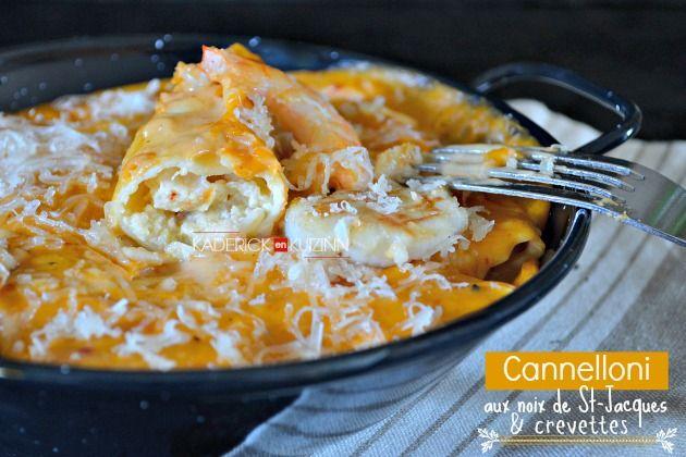 Recette cannelloni - Cannelloni aux St-Jacques, crevettes et parmesan - Kaderick en Kuizinn©