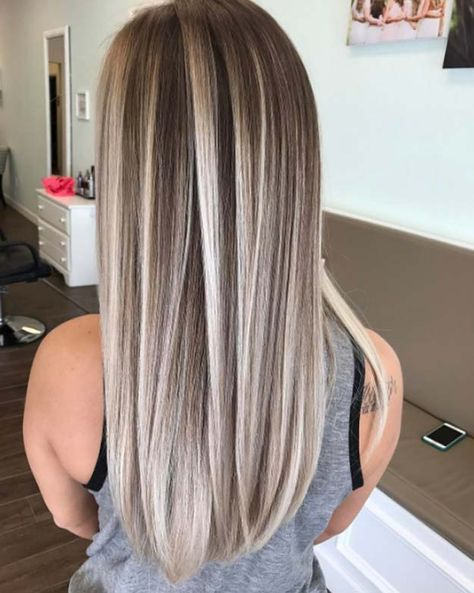Pictures of blonde hair with dark brown highlights the best best highlights to cover gray hair wow image results pmusecretfo Gallery