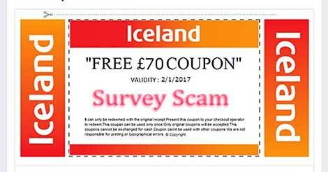 "Iceland Foods ""Free £70 Coupon"" Facebook Giveaway Scam"