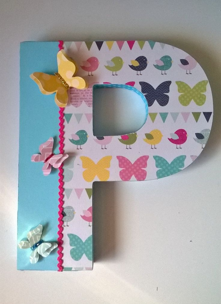 Letras decoradas. Altered letter. Scrapbook - Scrap