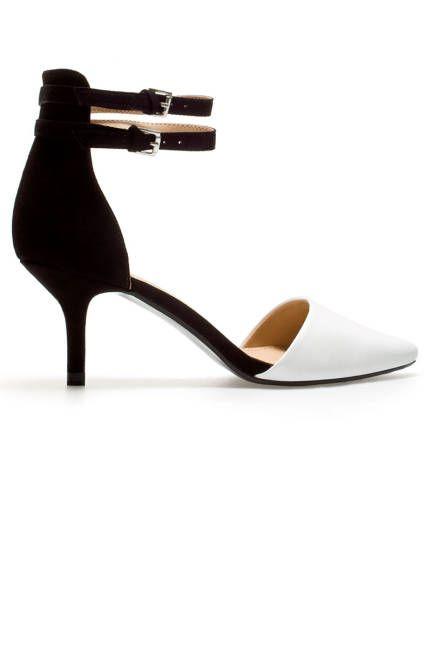 Color Block  Zara Vamp Shoes with Ankle Straps, $49.90; zara.com  Photo: Courtesy of Zara