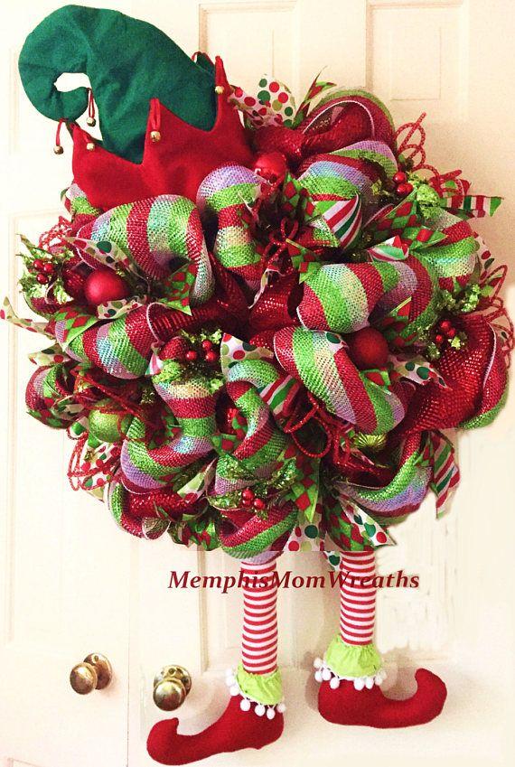 Navidad Elf corona guirnalda Deco de la corona guirnalda