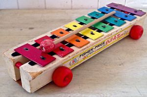 Vintage 1964. Collection. Jouet FISHER PRICE. Xylophone