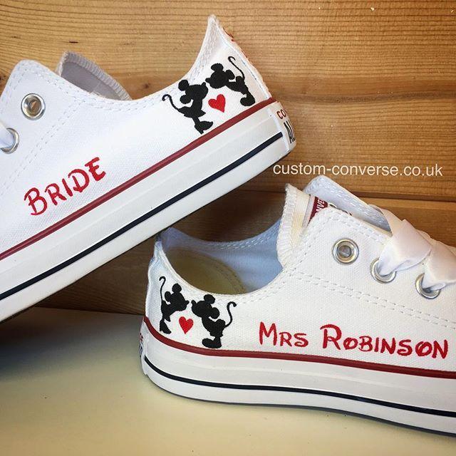 Wedding converse, Custom wedding shoes