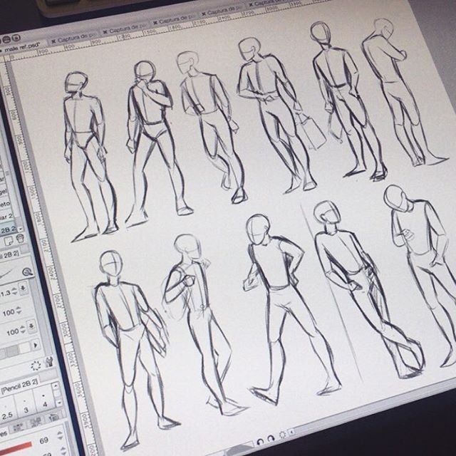 Male figure study practice used kpop idols airport fashion as references lol