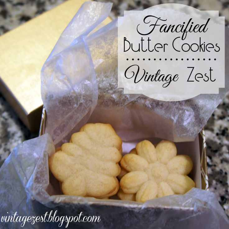 """Diane's Vintage Zest!: """"Fancified"""" Butter Cookies (for the Holidays)"""