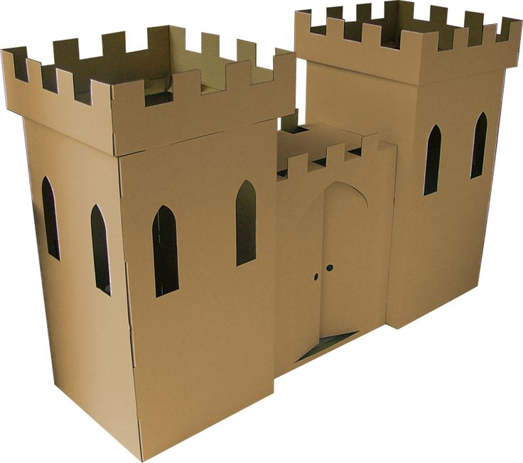 Such a cute and cheap idea. Made from cardboard boxes.  Kids will absolutely love playing in it and it makes for a great decoration at the same time.