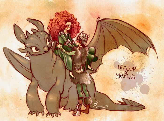 Brave x TtTYD: Frozen Dragon, Brave Tangled, Hiccup Merida, Ships, Jack O'Connel, Tangled Dragon, Mericcup Meridaxhiccup, Tangled Frozen, Merricup