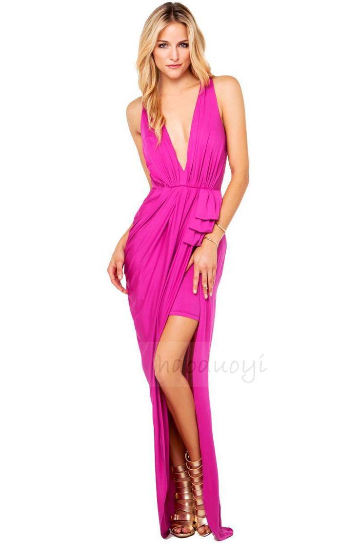 Lujoso Vestido Atractivo Del Halter De La Impresión Del Baile Por ...