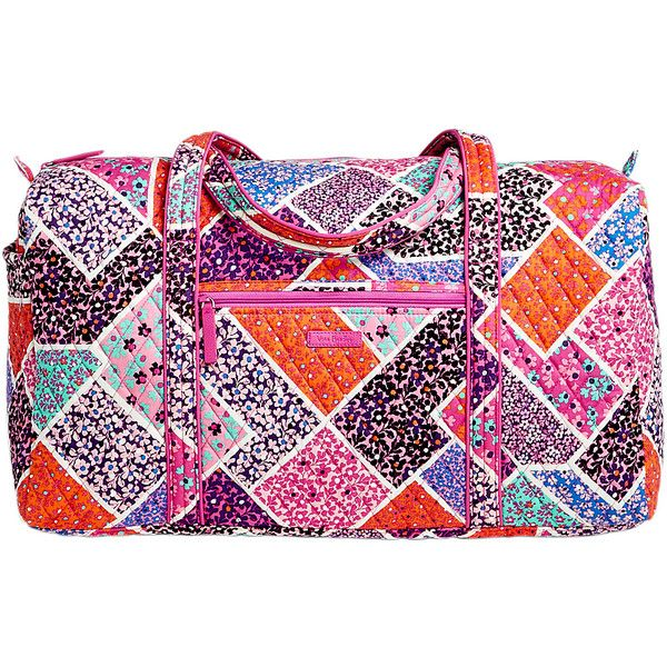 Vera Bradley Large Duffel 2.0 - Modern Medley - Travel Duffels ($85) ❤ liked on Polyvore featuring bags, luggage and pink