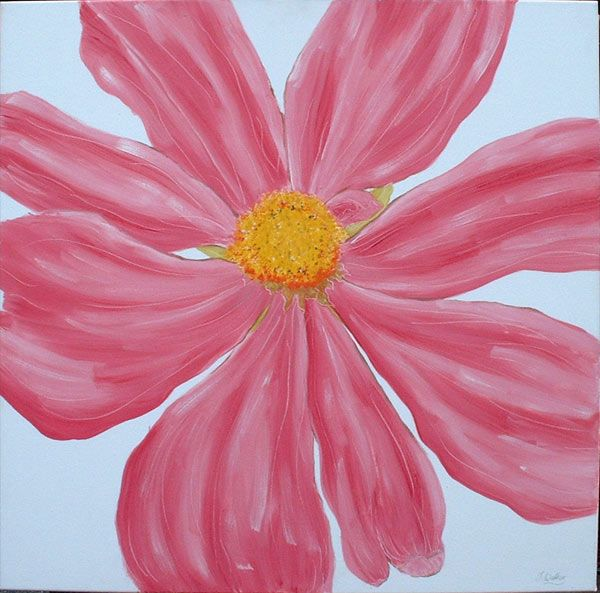 17 best images about painting ideas on pinterest daisy for Easy way to paint flowers