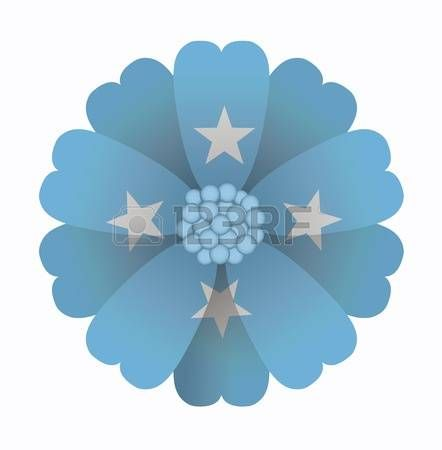 illustration of flower Flag F.S. Micronesia photo