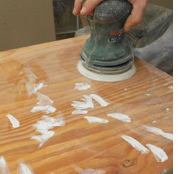How to Sand & Spray Paint Pine Furniture