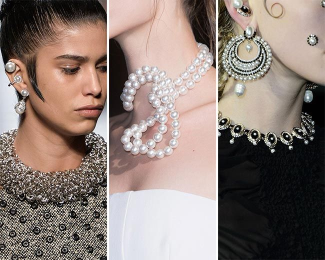 Pearls, lots of pearls. It's an awesome trend for fall/ winter 2015-2016