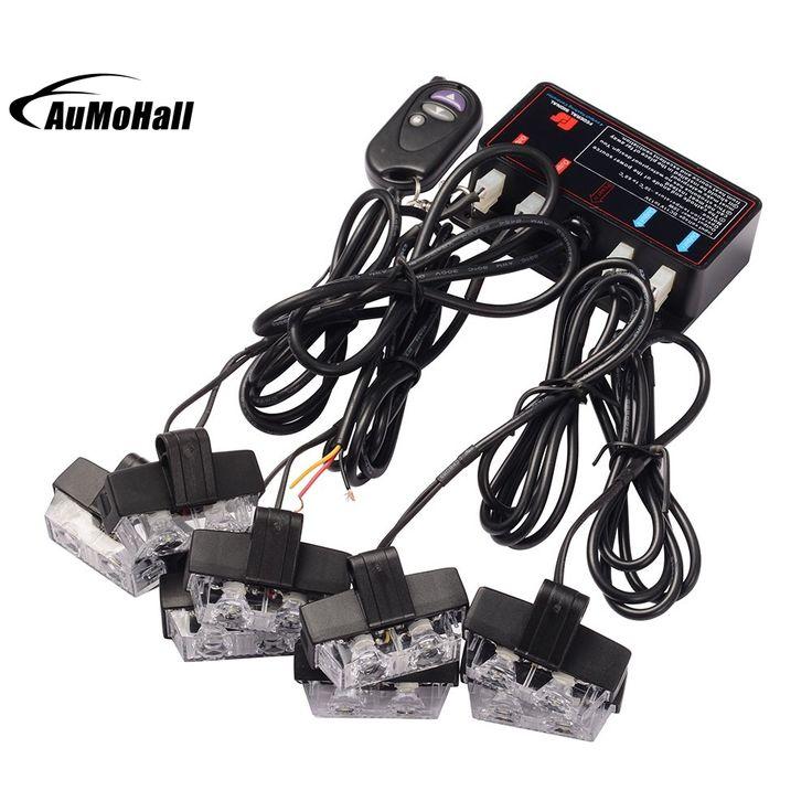 sale 1 kit led white car styling car truck wireless strobe emergency warning light strobe lights bars deck #dash #kits