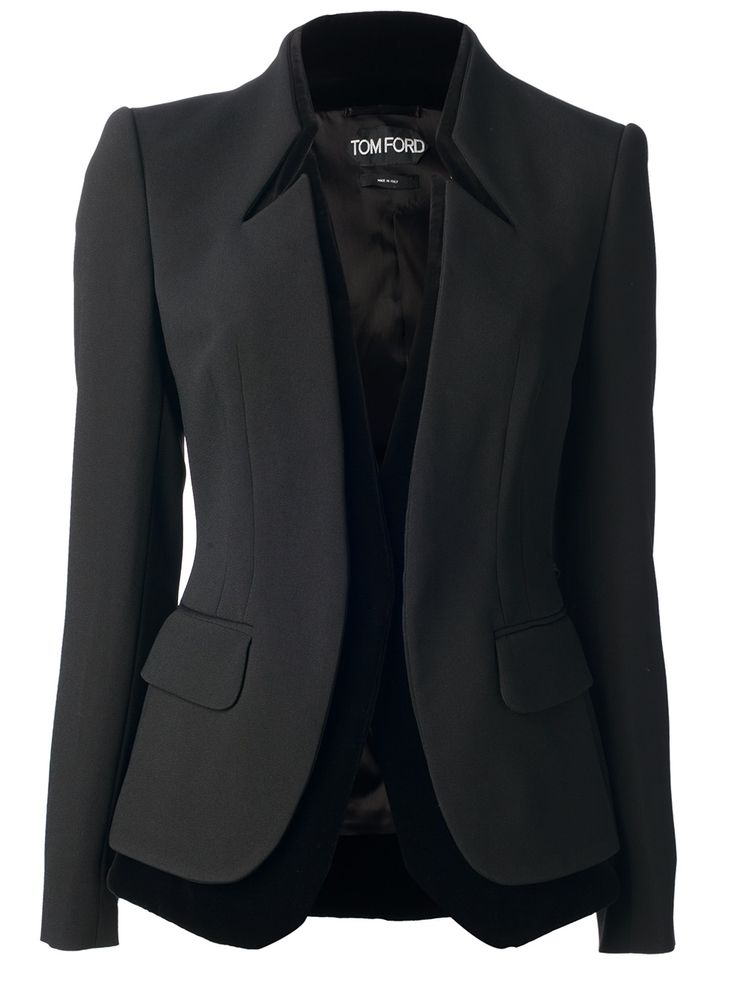 Tom Ford Contrast Trim Blazer