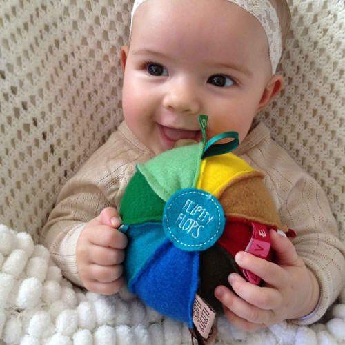 OB Designs - Flipity Flop Ball - Rainbow - Hugs For Kids
