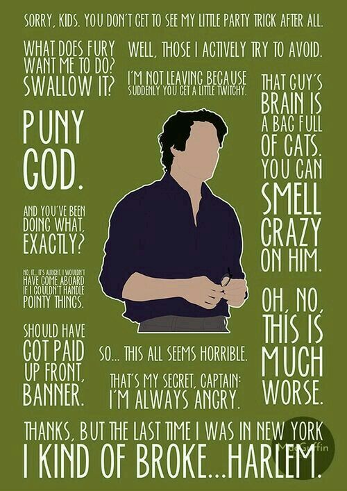 Bruce Banner quotes.